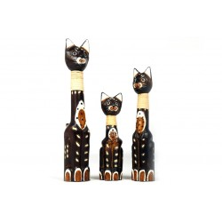 Set of 3 Round Cats