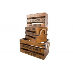 Set of 3 Vintage Boxes with Lettering