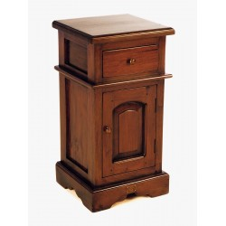 Solid Wood Mahogany Small Victorian Bedside with small drawer and single cupboard