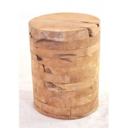 Reclaimed Wood Stool made from individual blocks giving each stool its own style and colouring