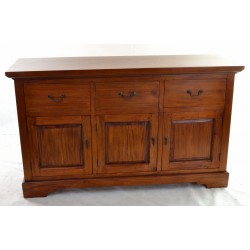 Mahogany Village Three Drawer Buffet