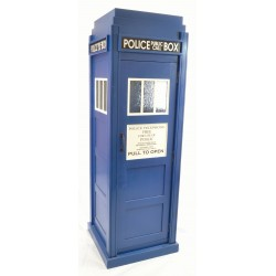 Bookcase or Drinks cabinet styled as a 1930s police box or doctor whos tardis