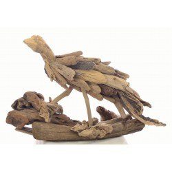 Driftwood Wild Bird ornnament made from reclaimed teak pieces