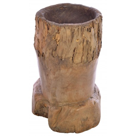 Solid wood reclaimed rice mortar