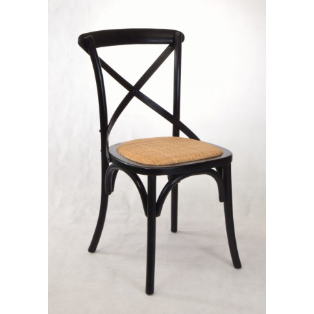 bentwood dining chair. Black Bentwood Dining Chair With Rattan Seat Pad -