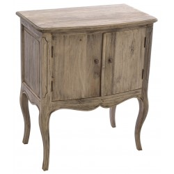Mahogany two door side table or small cabinet with cabriole legs in a stripped back vintage finish