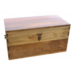Light Mango Wood Medium Storage Box
