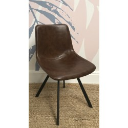 Fitzroy Tan Faux Leather Chair