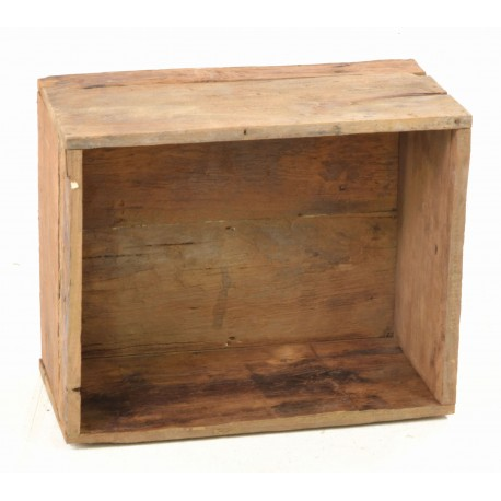 Solid teak storage box with rustic teak wood sides and base