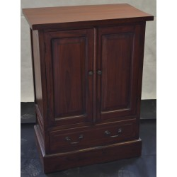 Mahogany Village Large Cupboard with scratched top and warped door