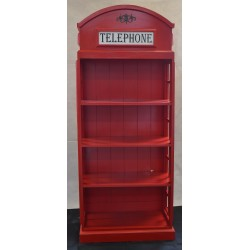 Vintage Telephone Bookcase with hole in the backboard
