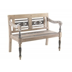 Distressed Painted Bench