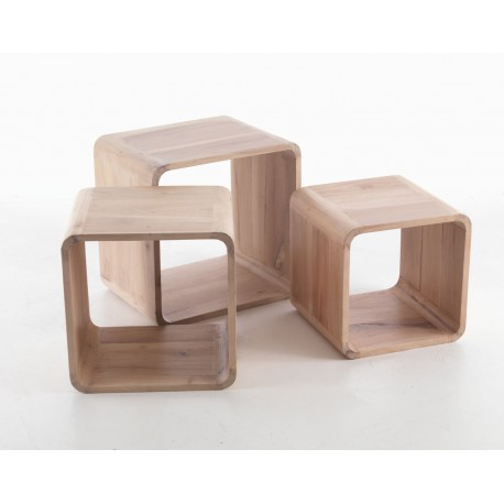 Laura Set of 3 Cubes