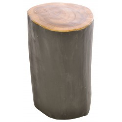 Tree Root Natural and Black Small Round Stool