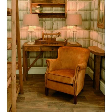 Gold Velvet small armchair with a solid wood frame under the soft velvet upholstery