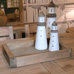 Fair Isle Slat Window Lighthouse Ornament Set of 3 - out of stock