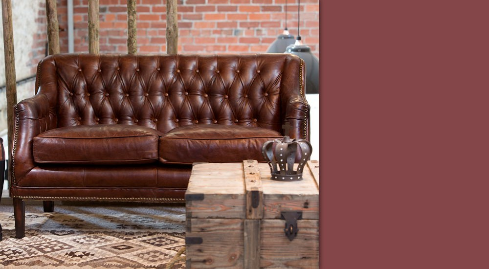 Buy a Leather Two Seater Sofa